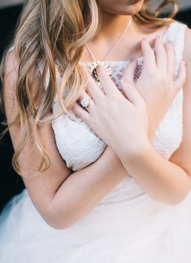 Wedding Ring on Bride | Secret Garden Wedding | Sarah Mattix Photography