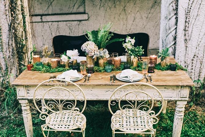 Beautiful wedding table | Secret Garden Wedding | Sarah Mattix Photography