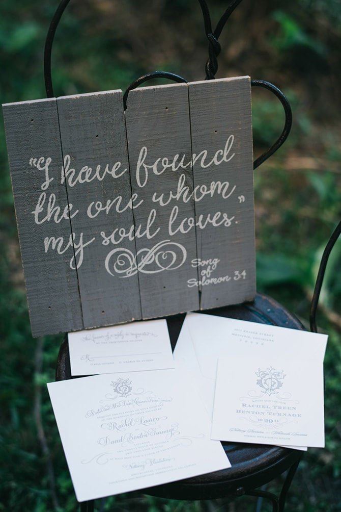 Wedding phrase | Secret Garden Wedding | Sarah Mattix Photography
