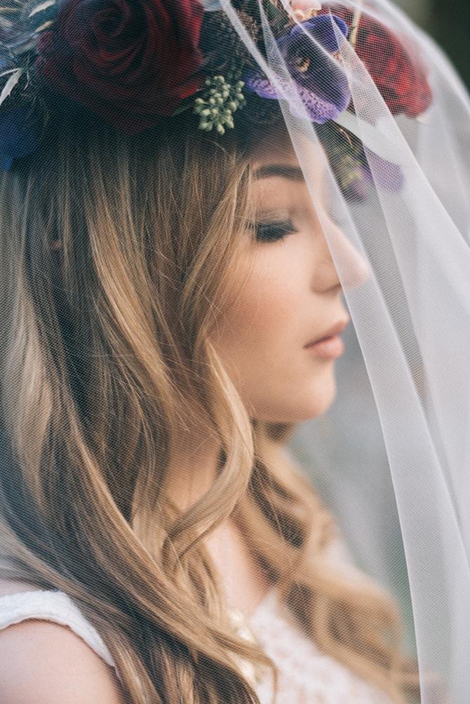 Beautiful bridal veil | Secret Garden Wedding | Sarah Mattix Photography