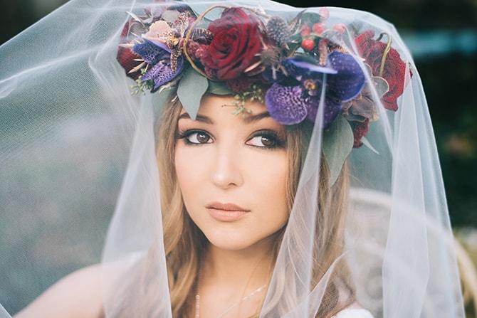 Bridal veil with headpiece | Secret Garden Wedding | Sarah Mattix Photography