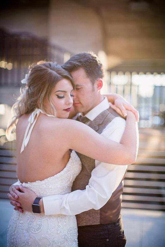 Newlyweds | Urban Wedding at Jackson Terminal Train Station | Amanda May Photos