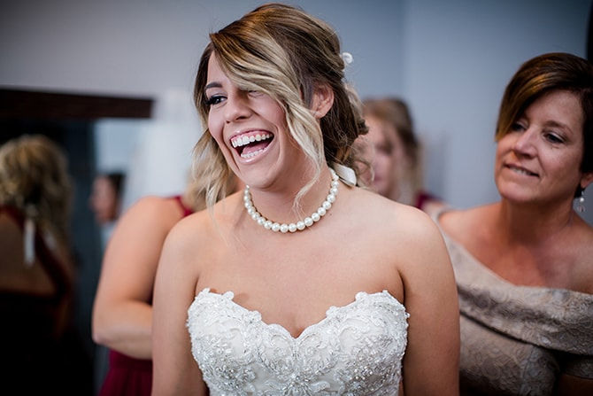 Bride in gown | Urban Wedding at Jackson Terminal Train Station | Amanda May Photos