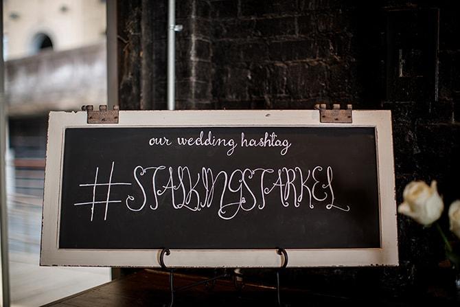 Wedding Hashtag | Urban Wedding at Jackson Terminal Train Station | Amanda May Photos