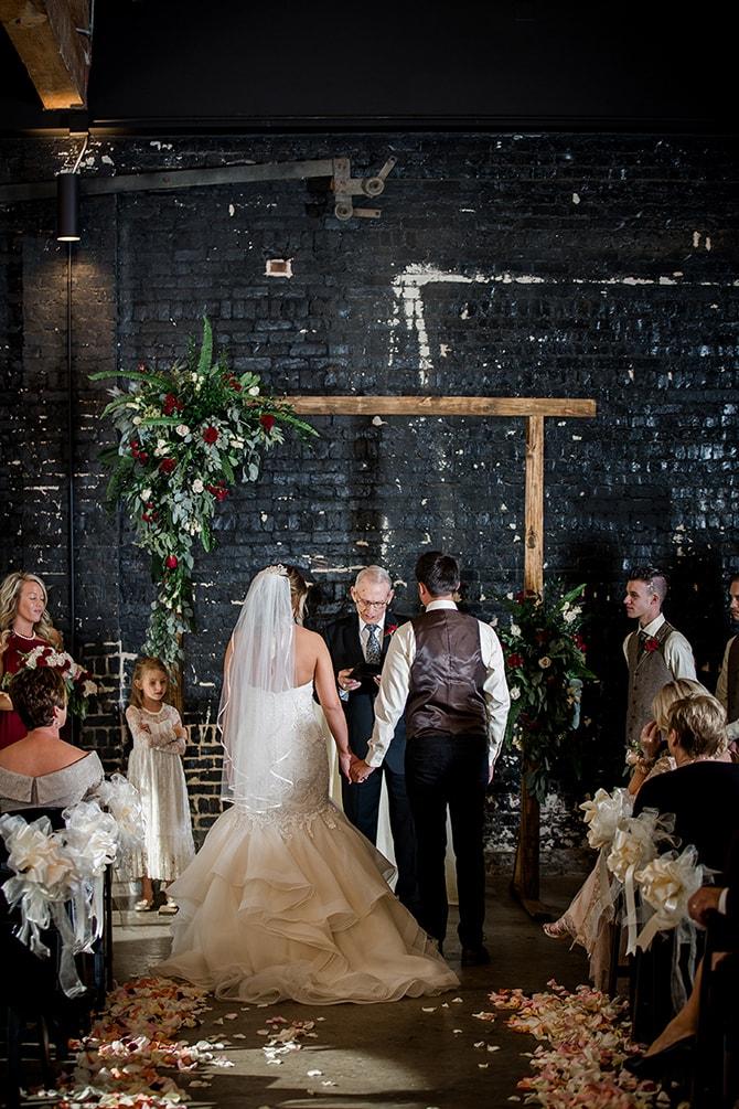 Couple at wedding | Urban Wedding at Jackson Terminal Train Station | Amanda May Photos