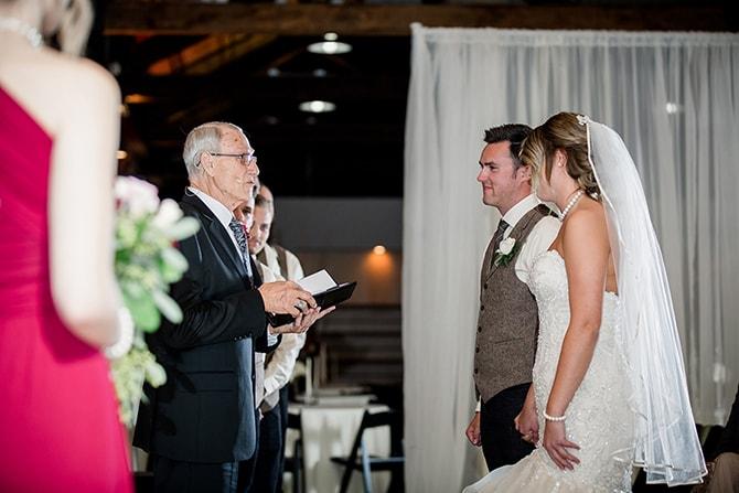 Wedding ceremony | Urban Wedding at Jackson Terminal Train Station | Amanda May Photos