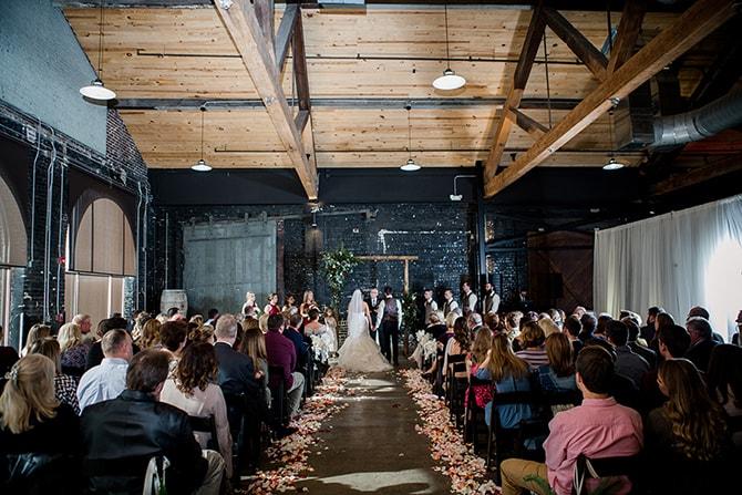 Urban wedding ceremony | Urban Wedding at Jackson Terminal Train Station | Amanda May Photos