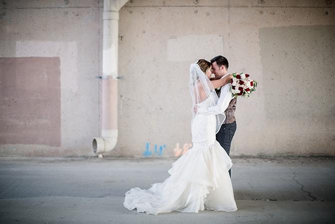 Couple after wedding | Urban Wedding at Jackson Terminal Train Station | Amanda May Photos