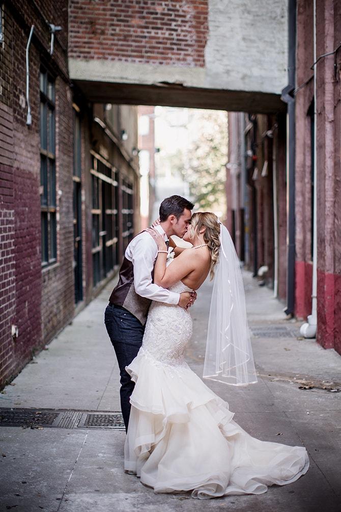 Bride and groom | Urban Wedding at Jackson Terminal Train Station | Amanda May Photos