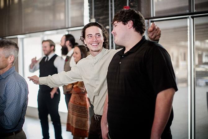 Wedding guests | Urban Wedding at Jackson Terminal Train Station | Amanda May Photos