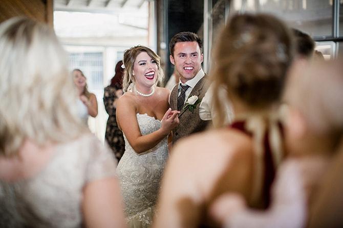 Wedding reception | Urban Wedding at Jackson Terminal Train Station | Amanda May Photos