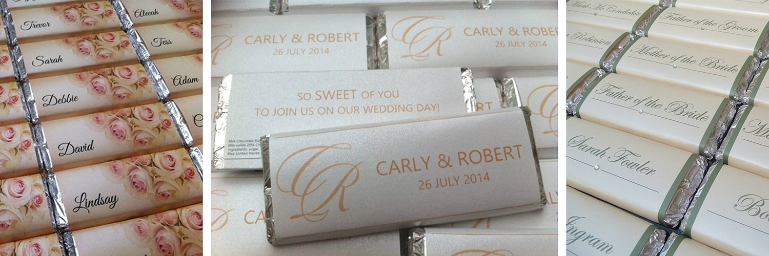 Choosing personalised chocolate bars | Ultimate Wedding Magazine 1
