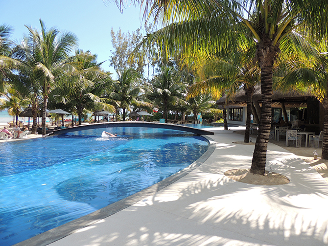 The pool at C Beach Club is one of many you can enjoy!