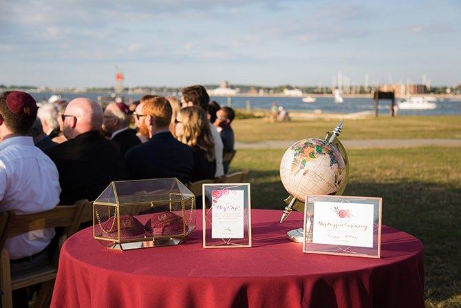 Wedding ceremony | Coastal Fort Wedding in Rhode Island | Ellysia Francovitch Photography