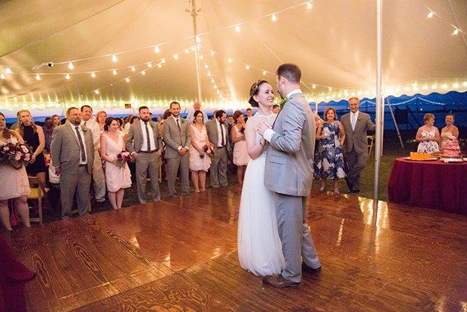 First dance | Coastal Fort Wedding in Rhode Island | Ellysia Francovitch Photography