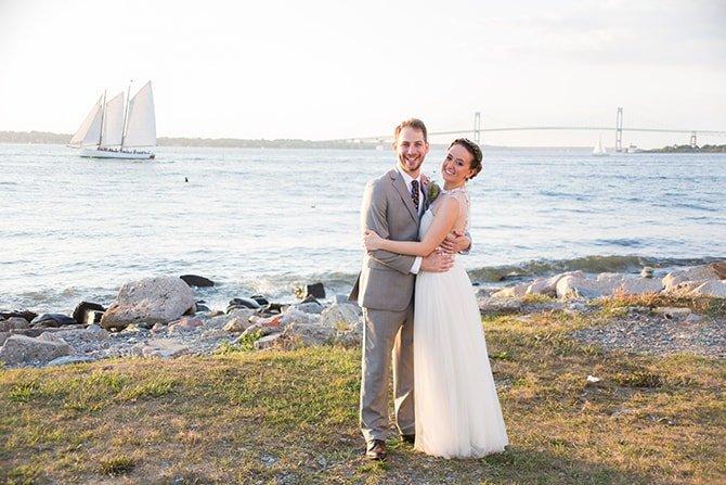 Wedding on Rhode Island | Coastal Fort Wedding in Rhode Island | Ellysia Francovitch Photography