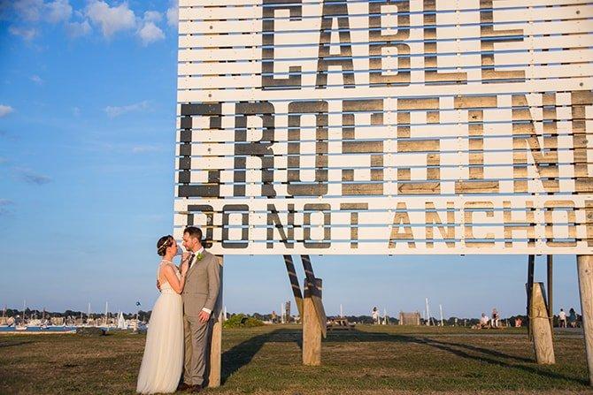 Rhode Island wedding | Coastal Fort Wedding in Rhode Island | Ellysia Francovitch Photography