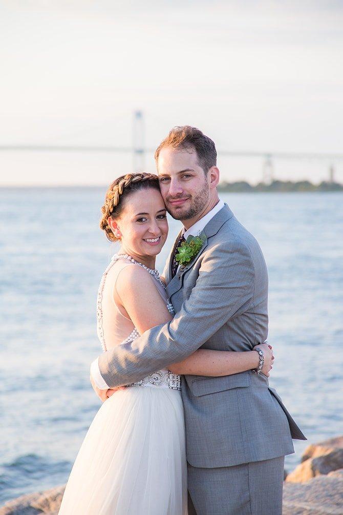 Wedding couple | Coastal Fort Wedding in Rhode Island | Ellysia Francovitch Photography