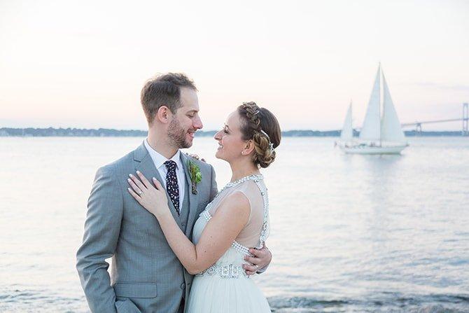Wedding by the sea | Coastal Fort Wedding in Rhode Island | Ellysia Francovitch Photography