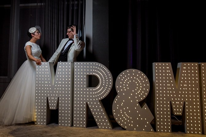 Mr & Mrs Letters | Hollywood Glamour in Liverpool | Lesley Bee Photography