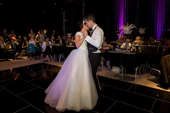 First dance | Hollywood Glamour in Liverpool | Lesley Bee Photography