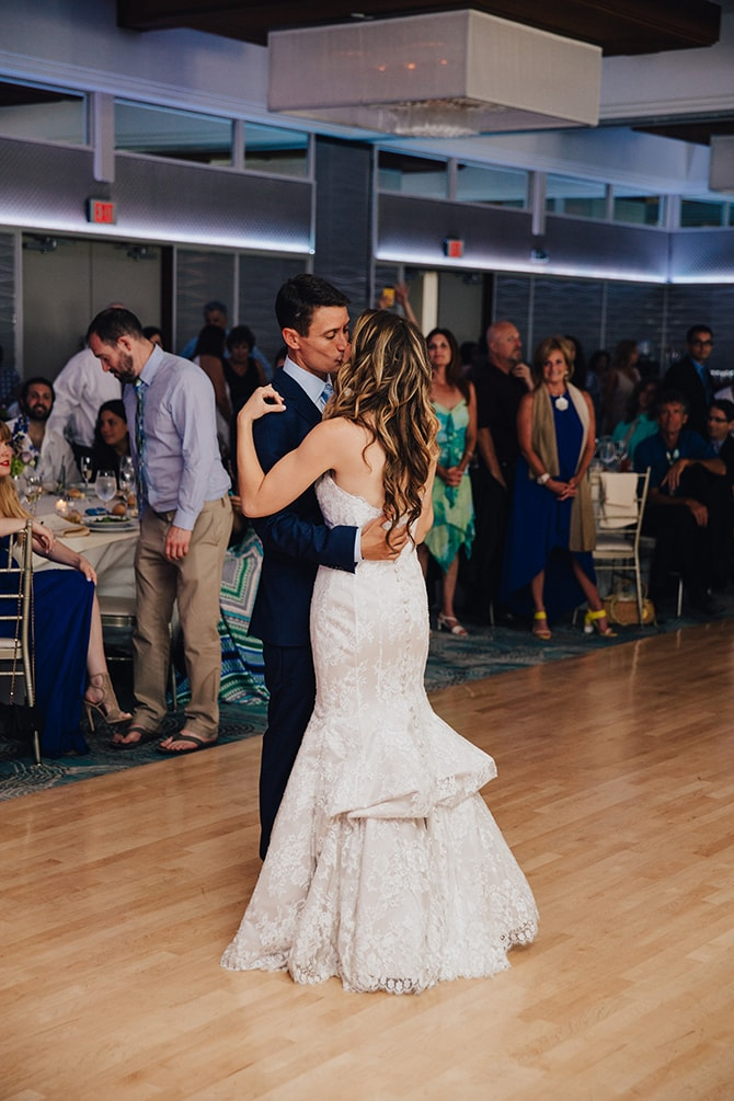 First dance | Contemporary Beach Wedding in New York | Martina Micko Photo