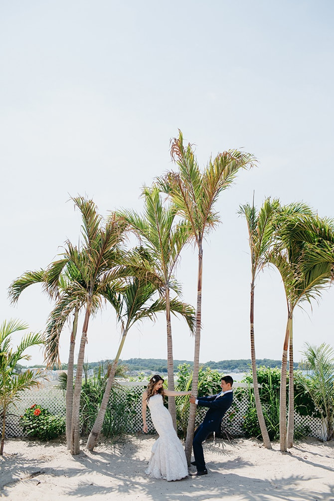 Couple on beach | Contemporary Beach Wedding in New York | Martina Micko Photo
