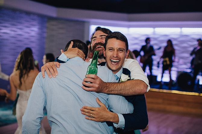 Groom with groomsmen | Contemporary Beach Wedding in New York | Martina Micko Photo