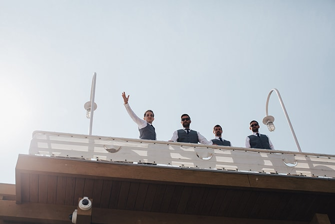 Groomsmen | Contemporary Beach Wedding in New York | Martina Micko Photo