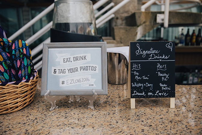 Wedding hashtags | Contemporary Beach Wedding in New York | Martina Micko Photo