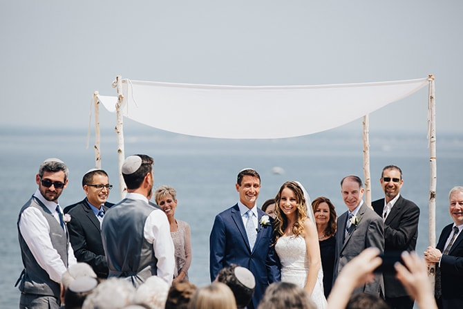 Jewish beach wedding ceremony | Contemporary Beach Wedding in New York | Martina Micko Photo