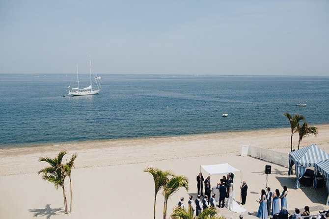 Wedding ceremony on beach | Contemporary Beach Wedding in New York | Martina Micko Photo