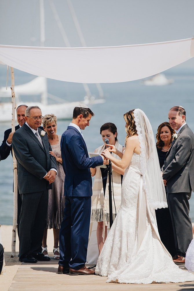 Jewish wedding ceremony on the beach | Contemporary Beach Wedding in New York | Martina Micko Photo
