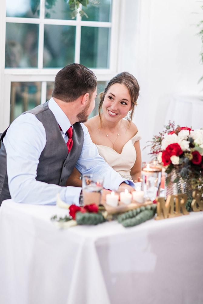 Couple at top table | Fall Wedding at Historic Virginia Estate | Lieb Photographic LLC