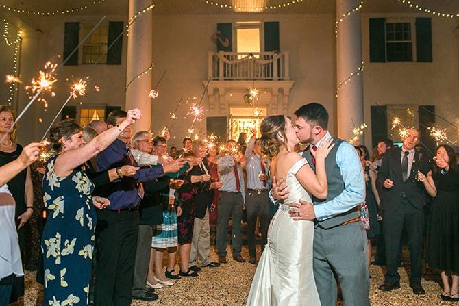Wedding sparklers | Fall Wedding at Historic Virginia Estate | Lieb Photographic LLC