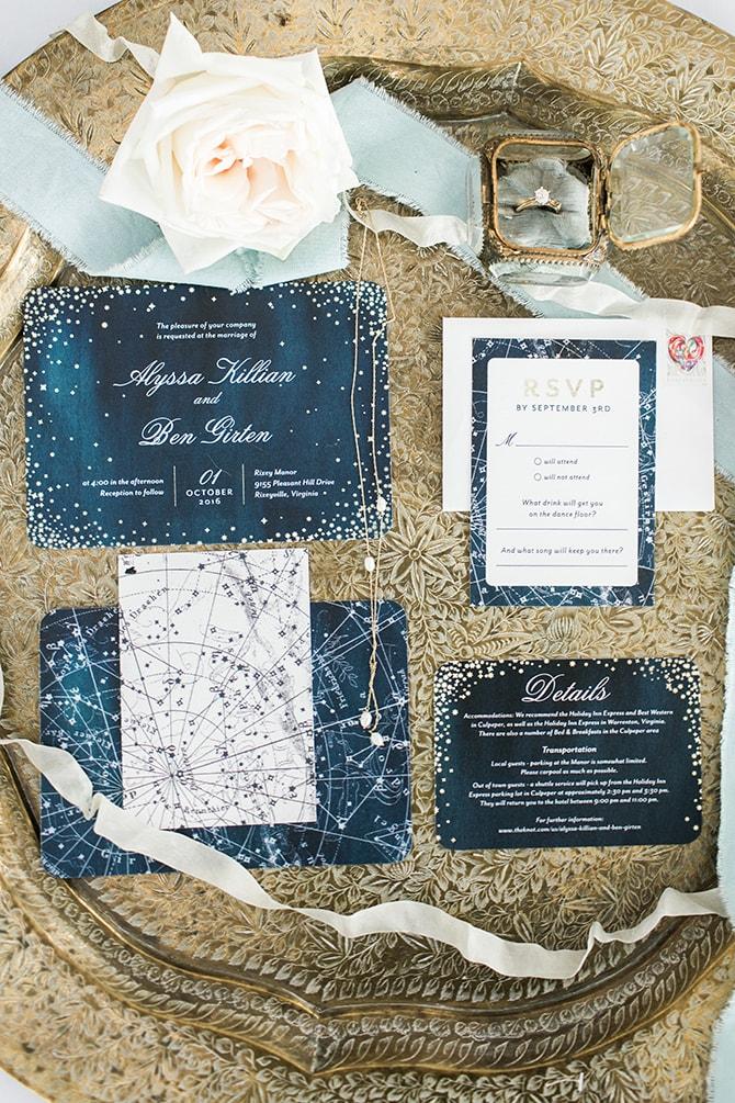 Wedding invitations | Fall Wedding at Historic Virginia Estate | Lieb Photographic LLC