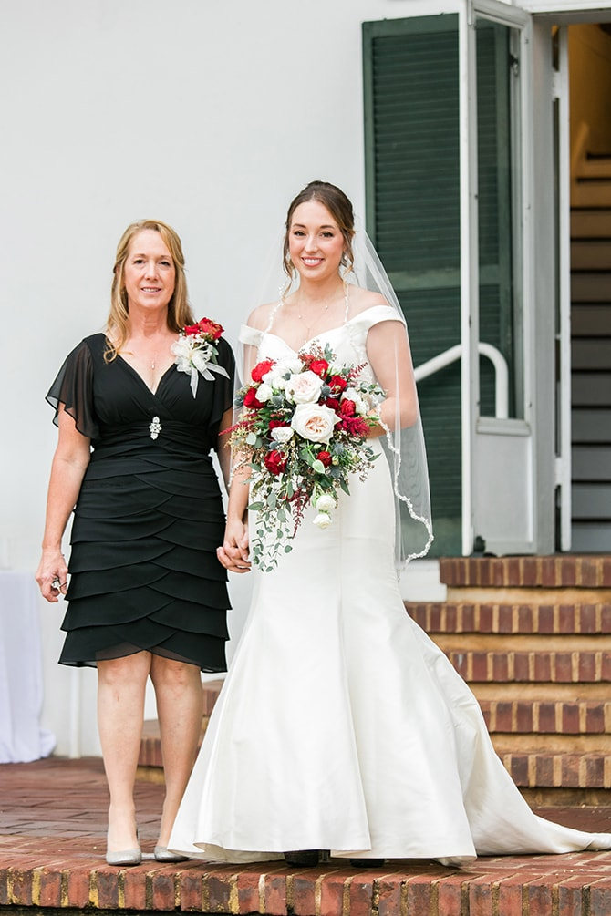 Bride walking down aisle | Fall Wedding at Historic Virginia Estate | Lieb Photographic LLC