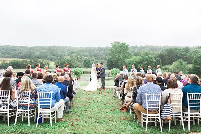 Outdoor wedding ceremony | Fall Wedding at Historic Virginia Estate | Lieb Photographic LLC