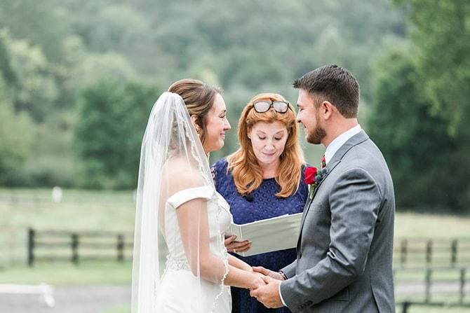Outdoor ceremony | Fall Wedding at Historic Virginia Estate | Lieb Photographic LLC