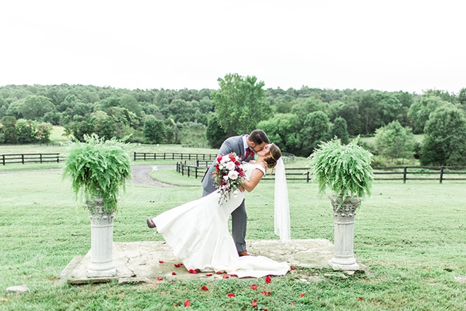 Kissing at cermeony | Fall Wedding at Historic Virginia Estate | Lieb Photographic LLC