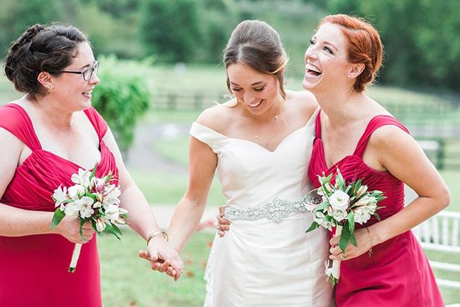 Bride with bridesmaids | Fall Wedding at Historic Virginia Estate | Lieb Photographic LLC