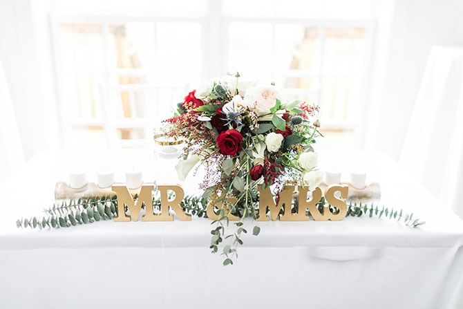 Mr & Mrs Sign | Fall Wedding at Historic Virginia Estate | Lieb Photographic LLC