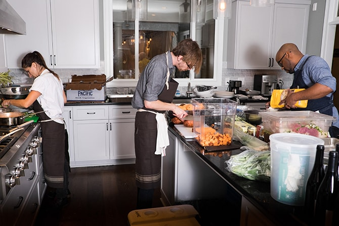 Wedding food preparation | Intimate Winter Wedding in Tennessee | Jay Farrell Photography