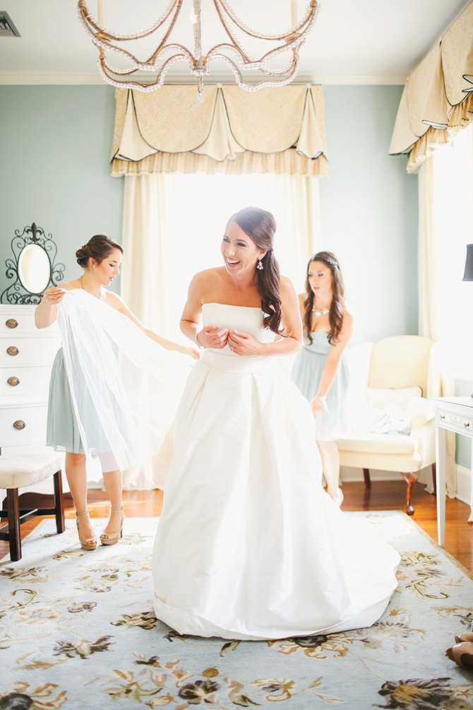 Bride in wedding dress | Stunning Southern Plantation Wedding | Gideon Photography