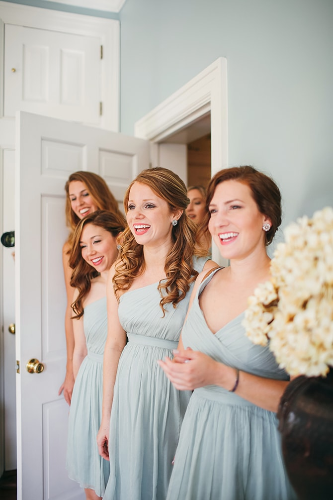 Smiling bridesmaids | Stunning Southern Plantation Wedding | Gideon Photography