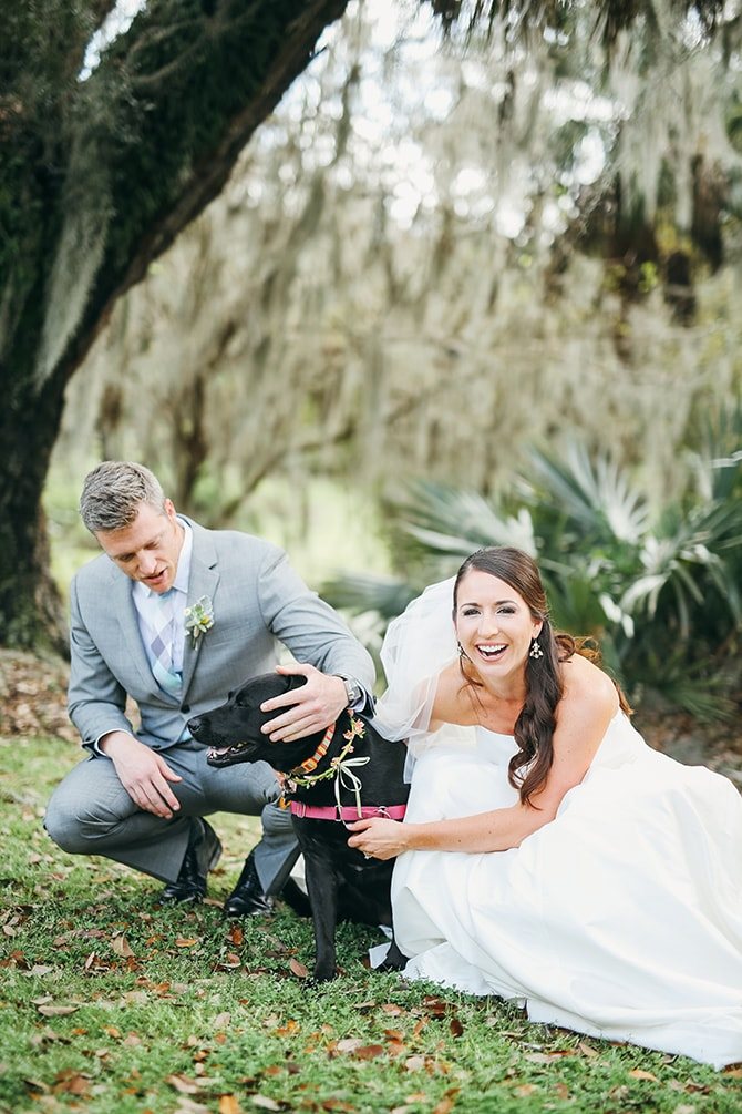 Wedding dog | Stunning Southern Plantation Wedding | Gideon Photography