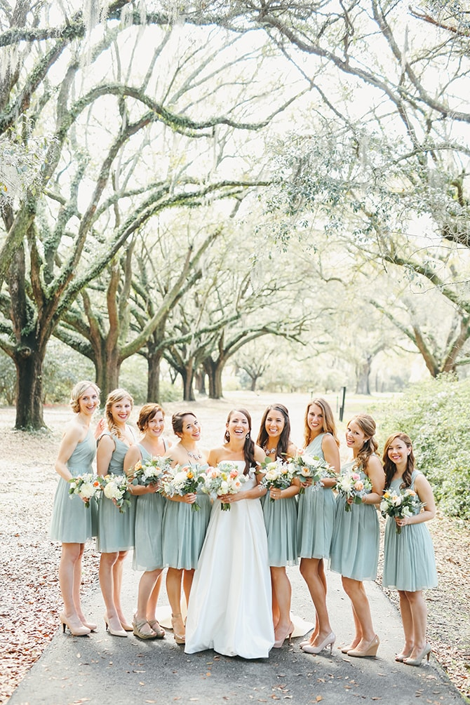 Bridesmaids | Stunning Southern Plantation Wedding | Gideon Photography