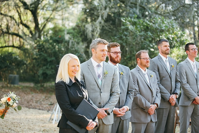 Groomsmen awaiting | Stunning Southern Plantation Wedding | Gideon Photography