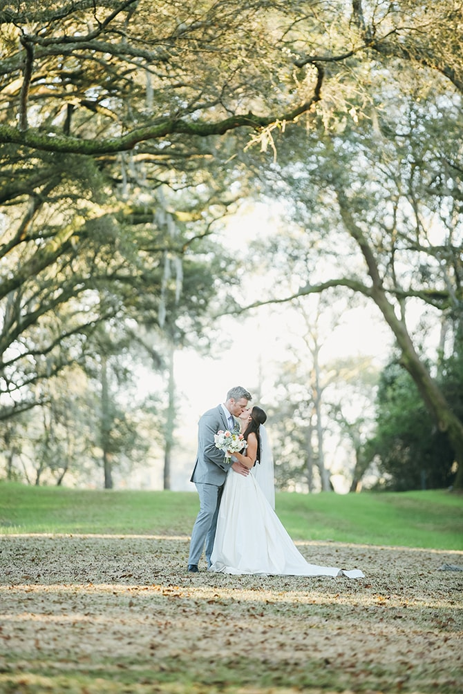 Couple in woodland | Stunning Southern Plantation Wedding | Gideon Photography