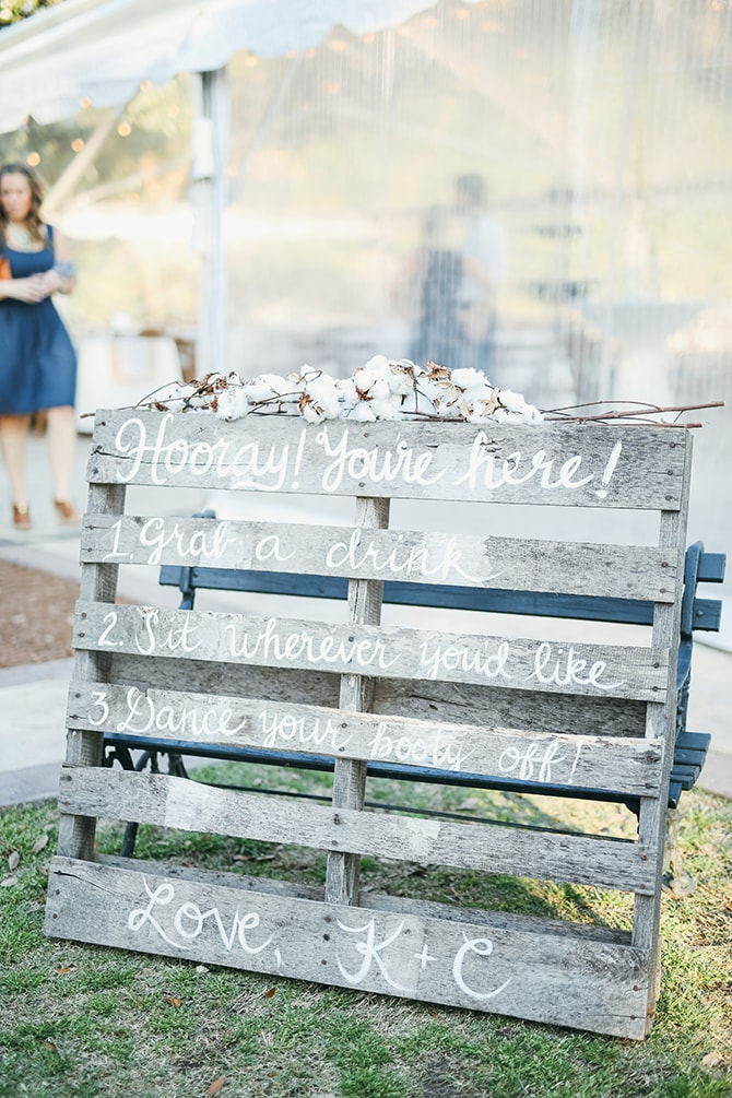 Wedding day on pallet | Stunning Southern Plantation Wedding | Gideon Photography